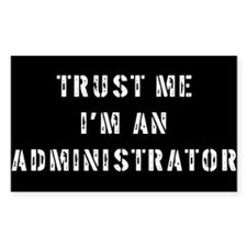 Administrator Gift Rectangle Decal