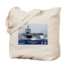USS Enterprise CVN-65 Tote Bag
