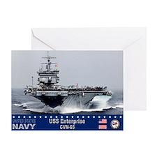USS Enterprise CVN-65 Greeting Card