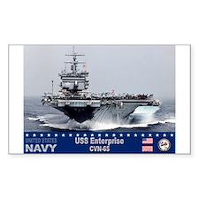 USS Enterprise CVN-65 Rectangle Decal