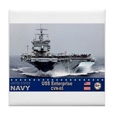 USS Enterprise CVN-65 Tile Coaster