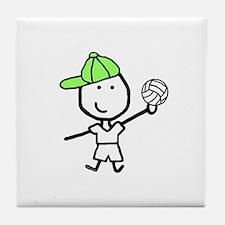 Boy & Volleyball Tile Coaster