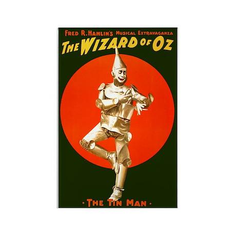 Vintage Wizard of Oz Tin Man Rectangle Magnet (10