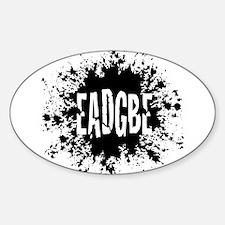 EADGBE -splat Oval Decal