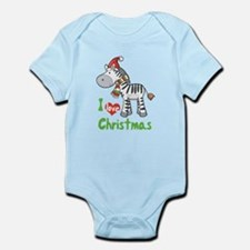 I Love Christmas Zebra Infant Bodysuit
