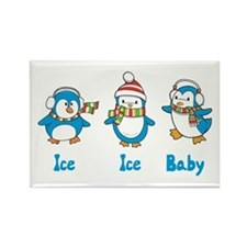 Ice Ice Baby Penguins Rectangle Magnet