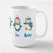 Ice Ice Baby Penguins Large Mug