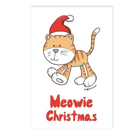Christmas Kitty Postcards (Package of 8)