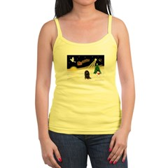 Night Flight/Dachshund LH Jr. Spaghetti Tank
