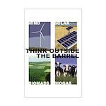 Think Outside the Barrel Mini Poster Print