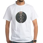 Aesculapius Staff White T-Shirt