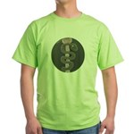 Aesculapius Staff Green T-Shirt
