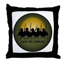 Lest We Forget Throw Pillow War Memorial Gifts