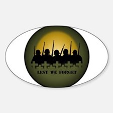 Soldiers Tribute Stickers 10 pk Lest We Forget