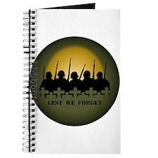 Lest We Forget Jounal Note Sketch Book War & P