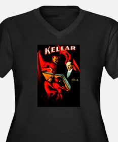 Kellar Devils Women's Plus Size V-Neck Dark T-Shir