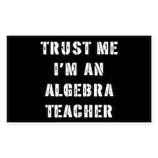Algebra Teacher Gift Rectangle Decal