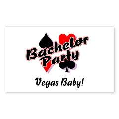 Bachelor Party (Vegas Baby) Rectangle Sticker