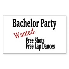 Bachelor Party Rectangle Decal