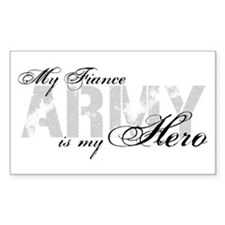 Fiance is my Hero ARMY Rectangle Decal