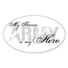 Fiance is my Hero ARMY Oval Decal