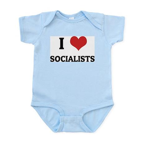 I Love Socialists Infant Creeper