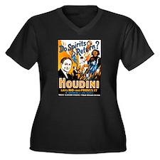 Houdini Spirits Women's Plus Size V-Neck Dark T-Sh