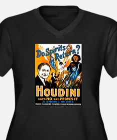 Houdini Spirits Women's Plus Size V-Neck Dark T-Sh