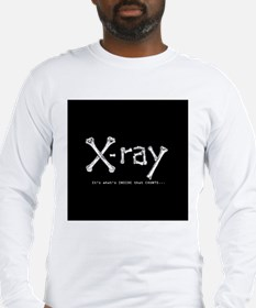 xray square Long Sleeve T-Shirt