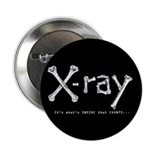 "Cute X ray 2.25"" Button"