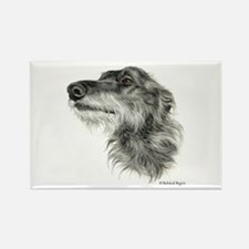 Scottish Deerhound Rectangle Magnet