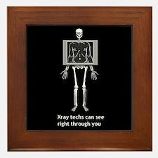 Cute X ray Framed Tile