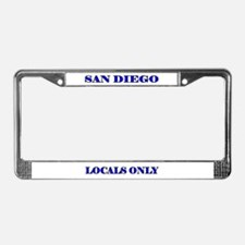 SAN DIEGO LOCALS ONLY License Plate Frame