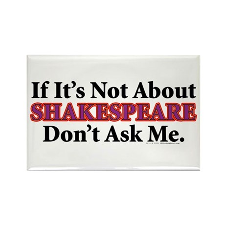 Shakespeare Rectangle Magnet