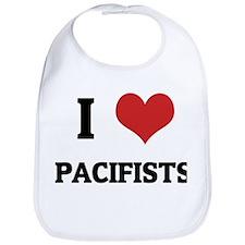 I Love Pacifists Bib
