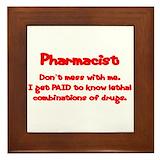 Funny pharmacist Framed Tiles