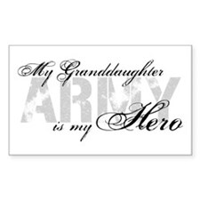 Granddaughter is my Hero ARMY Rectangle Decal