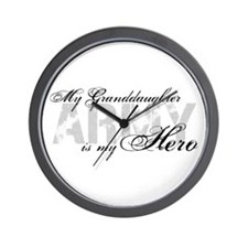 Granddaughter is my Hero ARMY Wall Clock