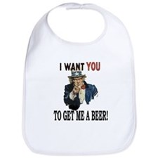 I want you to get me a beer Bib