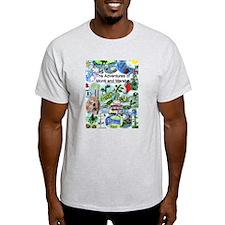 Pegs-Monti & Marsha Ash Grey T-Shirt