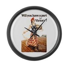 Victory Garden Large Wall Clock