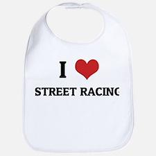 I Love Street Racing Bib