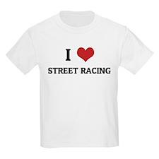 I Love Street Racing Kids T-Shirt
