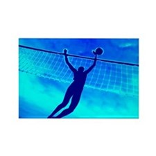 VOLLEYBALL BLUE Rectangle Magnet