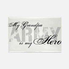 Grandpa is my Hero ARMY Rectangle Magnet