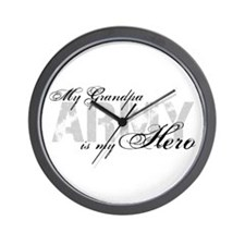 Grandpa is my Hero ARMY Wall Clock