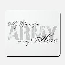 Grandpa is my Hero ARMY Mousepad
