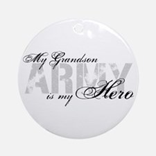 Grandson is my Hero ARMY Ornament (Round)
