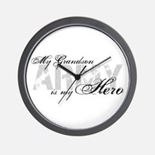 Grandson is my Hero ARMY Wall Clock