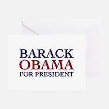 Barack Obama for President Greeting Card